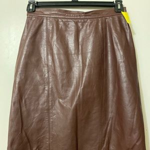 Dresses & Skirts - Brown Vintage Leather Pencil Skirt